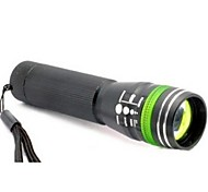 3 Modes LED Flashlight Torch Zoomable 240LM CREE Q5 Torch Lamp 5 Circle Color