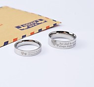 Classic Heart in Heart Titanium Steel Couple Rings Promis rings for couples