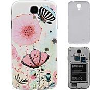Batterflies Volar en las flores dura de la PC de la batería de la cubierta de la galaxia de Samsung i9500 S4