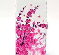 For HTC Case Card Holder / with Stand / Flip Case Full Body Case Flower Hard PU Leather HTC