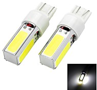 High Power T20 20W 6500K 1300lm 4-COB LED Cool White Car Head Light / Foglight (12~24V / 2 PCS)