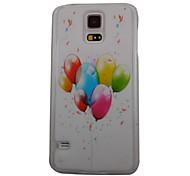 Bela Padrão balão de volta caso PC para Samsung S5/I9600