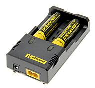 NiteCore NL183 2300mAh 18650 (2 peças) + NETCORE I2 + Carregador de Bateria 2 Pcs / Lot plástico caixa de armazenamento da bateria