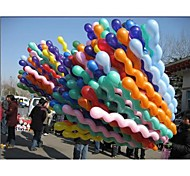 Fashion 100Pcs/Pack Giant Rubber Helium Spiral Latex Balloons Wedding Birthday Party Decoration Ball