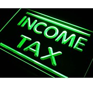 Income Tax Services Neon Light Sign