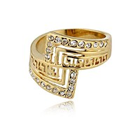 African Hot Sale Gold Ring Wholesale Price18K Golden Great Wall Unisex Ring