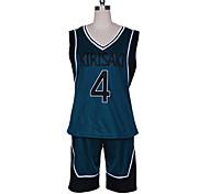 The Basketball Which Kuroko Plays Kirisaki Daiichi Basuke Dark Green Uniform Cosplay Costume