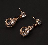 Drop EarringsJewelry Golden / Transparent Alloy / Rhinestone Party / Daily / Casual