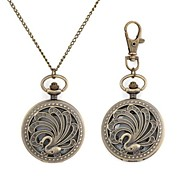 Hollow Swan Pattern Metallic Necklace Watch/Keychain Watch (1pc) Cool Watches Unique Watches