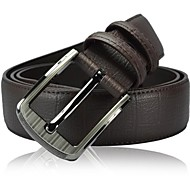 Cintura in pelle Leisure Pin Buckle Uomo