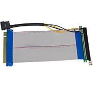 PCI-E 16X to16X Riser Card Extender Ribbon Cable with Molex Connector  23cm
