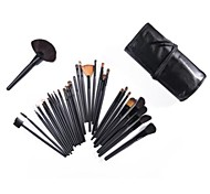 32PCS Wool  Makeup Brushes Cosmetic Eyebrow Lip Eyeshadow Brushes Set with Case