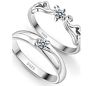 Q-lovely™ Fashion Happy Couple Female 925 Sterling Silver Ring