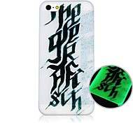 CaseBox® Black Letter Pattern Fluorescence after Sunniness Hard Back Case for iPhone5/5S