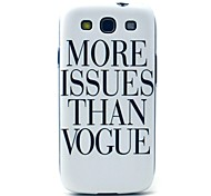 More Issues Than Vogue Pattern Hard Case Cover for Samsung Galaxy S3 I9300