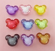 Z&X®  DIY Beads Material Colored Micky Mouse Shaped Beads 10 PCS(Random Color, Pattern)