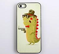 Fresca do dinossauro Projeto Hard Case de alumínio para iPhone 5/5S