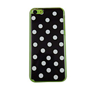 Case nero Bella modello di puntino PC posteriore per iPhone 5C