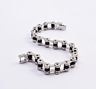 Fashion Men's Titanium Steel Motorcycle Chain Bracelets