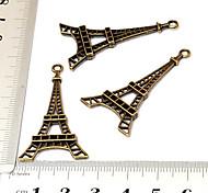 Vintage schönen handgemachten DIY Fallebene Eiffelturm Bronze-Legierung Armband Zugehörigkeit (10 Stück)