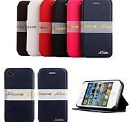 KARZEA® Elegant  PU Leather  Case with Stand  for iPhone 4/4S(Assorted Colors)