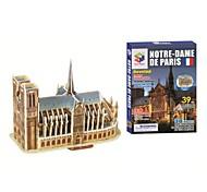 Educational Toys Magic Puzzle Notre Dame de Paris Model 3D Puzzle for Children and Adult Jigsaw Puzzle(39PCS, B668-6)