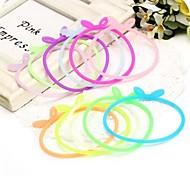 Dell'orecchio di coniglio della gelatina del silicone Candy braccialetti colorati per bambini