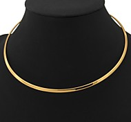 U7® 18K Real Gold Platinum Plated Torques Choker Necklace Circle for Women