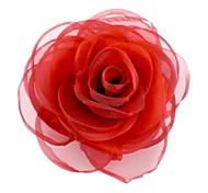 Fashion Elegant Cube Cotton Rose Flower Women's Brooch