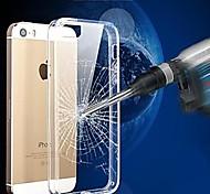 vormor® cristal tpu armação transparente caso da tampa do pc-resistente a arranhões para iPhone 5 / 5s