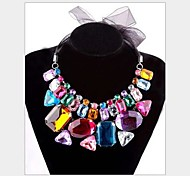 Women's Retro Fashion Synthetic Crystal Tying Necklace