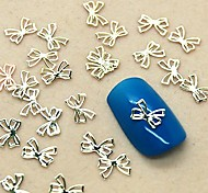 200PCS Lovely Bowtie Design Slice Metal Nail Art Decoration