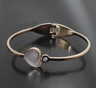 Fashion Jewelry Stainless Steel Gold-Plated Love Cupid Women's Bangles (1 Pc)
