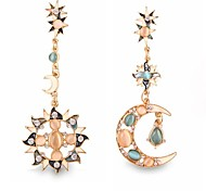 (1 Pair)Vintage (Sun and Moon Diamond) as Picture Alloy Drop Earrings