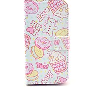 Rose Hips Cartoon Pattern PU Leather Case with Stand and Card Slot for LG G2
