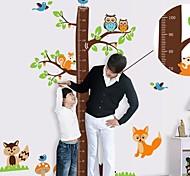 Настенные наклейки для детской комнаты, дерево с линейкой для измерения роста