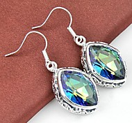 Earring Drop Earrings Jewelry Wedding / Party / Daily / Casual Crystal / Silver Plated Silver