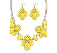Europea y América lindo Claro Flores gancho pendientes Collar llamativo juego de las mujeres (más colores) (1 juego)