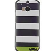 Stripe Design PC Hard Case for HTC ONE M8
