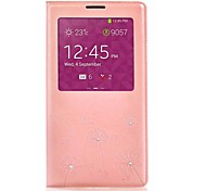 Design Dandelion Pink PU Leather Cases  for Samsung Galaxy Note 3
