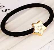 Pentagram Love Metal Elastic Hair Ties