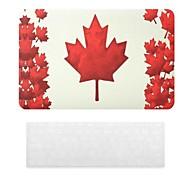 Motif de drapeau canadien Hard Case PC avec le clavier de peau de couverture pour MacBook Air