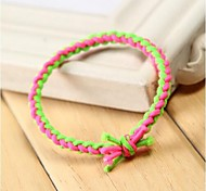 Hand-woven Fluorescent Color Elastic Haie Ties