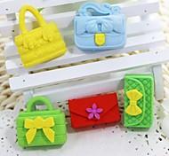 niedlichen abnehmbaren Handtasche und Geldbeutel förmigen Radiergummi (zufällige Farbe x 5 Stück)