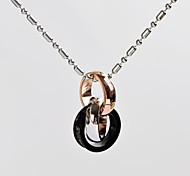 Fashion Unisex Three Rings 316L Stainless Steel Pendant Necklace
