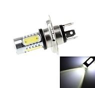 H4 7.5W 700lm 6500K 5 x COB LED 700lm 6500k LED à lumière blanche pour la voiture phare (DC10 ~ 30V)