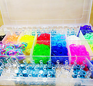 Z&X®  Kits Rainbow Color Loom(Rubber Band 4400PCS、Two Knit Tools、Two Knitters
