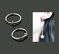 Fashion Silver 15mm Clip Earring DIY Material(1 Pc)