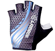 LAMBDA Blue Polyester Anti-skid Half Finger Cycling Gloves
