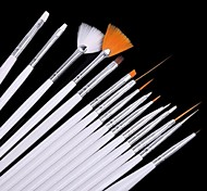 15 PCS Nail Art Tools White Painting Brush Kits